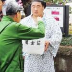 嘉風・天鎧鵬ら、熊本地震被災者支援の募金活動