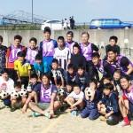 熊本県益城町の避難所でフットサル大会を開催