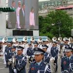 新旧総統の離就任式前、台湾国防部(防衛省に相当)の連合楽儀隊(マーチングバンド)による演奏が行われた