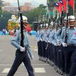 台湾国防部(防衛省に相当)の連合楽儀隊(マーチングバンド)による行進と演武