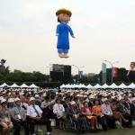 5月20日、蔡英文氏の総統就任式に参加する人々