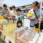 熊本市で熊本城復興支援のチャリティー販売
