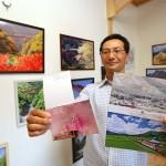 鉄道写真家の宮本さん、復興願い絵はがき販売