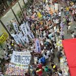 7月1日午後の民主化デモ(主催・民間人権陣線)は主催者発表で参加者数11万人(香港警察発表は1万9300人)