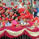 7月1日、返還19周年を祝う香港市民ら