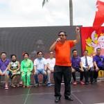 7月1日、香港の尖沙咀(チムサーチョイ)で行われた愛国愛港大連盟による香港返還19周年記念イベント。主催者の一人、「愛港之声」代表の高達斌氏が熱弁を振るう
