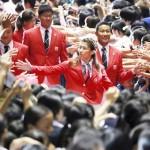 リオ五輪へ決意の出陣、日本選手団が結団式