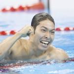 リオ五輪競泳男子400個メで、萩野が瀬戸破り金