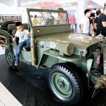 米軍のジープも展示