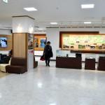 宇奈月駅2階は、展示コーナーになっている。1年前に改装された。