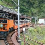 欅平駅に到着する列車