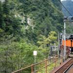 宇名月行の上り列車が入線。これに乗り込む。
