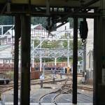 機関庫から宇奈月駅を見る