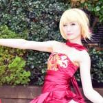 「Fate/EXTRA」より「セイバー(TYPE-MOON Fes.ドレス仕様)」。真名は伏せます