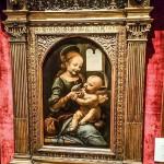 『聖母ブノワ』- レオナルド・ダ・ウィンチ作、エルミタージュ美術館