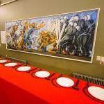 ロシア独自の芸術を紹介するエラルタ現代美術館に展示されている「最後の晩餐」
