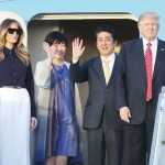 日米首脳がフロリダへ、沿道から「ウエルカム」