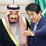 サルマン国王(左)と安倍首相
