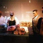 731部隊記念館では蝋人形になって展示