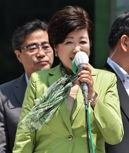 都民ファーストの会・小池百合子代表(渋谷センター街横)