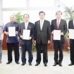 国交相、国際クルーズ船拠点港の指定書を交付