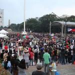 会場には約1万3千人が集結した
