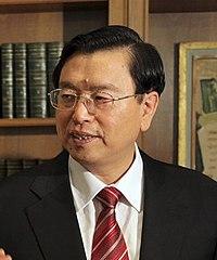 張徳江・全人代常務委員会委員長(序列3位)