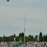 F2戦闘機が飛来するとどよめきが起こった  (8月24日撮影)