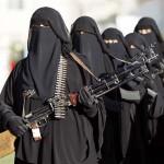 「フーシ派」の女性戦闘員