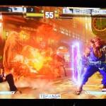 「ストリートファイターV(ファイブ) 昇竜拳トーナメント」では選手同士の激しい試合が繰り広げられる