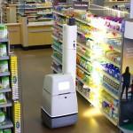 店内を動き回る在庫チェック・ロボット