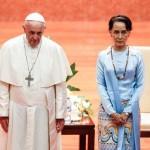 フランシスコ法王とアウンサンスー・チー氏