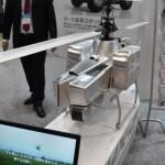 三菱重工業ブースでの空から災害の規模を偵察する車輌