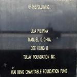 台座の後ろ側には慰安婦像の設置を支援した人物や団体の名が記されている