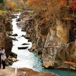 奇岩怪石の自然美が美しい厳美渓