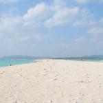 海と砂浜のコントラストが美しいハテの浜