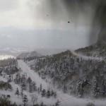 噴火した本白根山