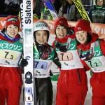 ジャンプ女子W杯で日本、女子団体で2連勝