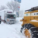 福井の国道8号、大雪による立ち往生解消へ