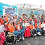 平昌パラリンピック、日本選手団の入村式