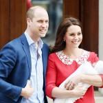 ウィリアム英王子夫妻が笑顔で第3子を披露