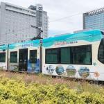 台湾観光PRで、富山地鉄がラッピング車両
