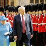 トランプ米大統領、エリザベス英女王と茶会