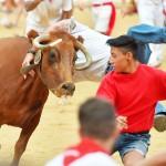 サン・フェルミン祭の伝統行事「牛追い」