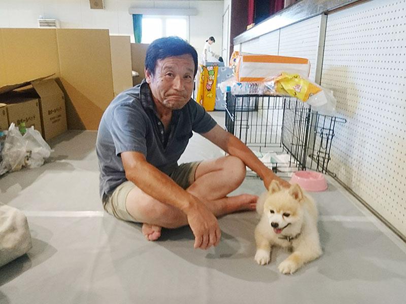 岡山県の避難所で、「ペットと避難」が広がる