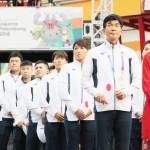 アジア大会に参加する日本選手団が入村式