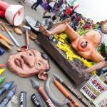 ドゥテルテ大統領を非難するオブジェ