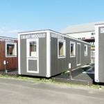 岡山県倉敷市で「モバイル型」の仮設住宅も