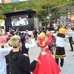 JR蒲田駅西口広場での盆踊りの様子