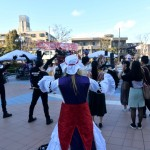 日本工学院の生徒による盆踊りレクチャー